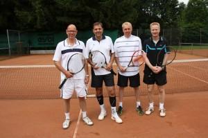 Mannschaft: (v.l.) Alexander Rockel, Eric Kiepke, Oliver Frie, Jens Kruse.