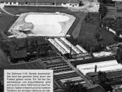 Stadtbad Luftaufnahme 1959 Archiv Stadt Sarstedt