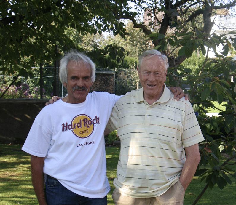 Walter Mahlendorf mit Jürgen Matz (damaligen Leiter des TKJ-Lauftreffs).